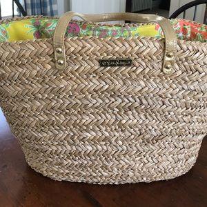 Lilly Pulitzer straw bag